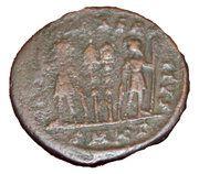 Nummus - Constantinus II (GLORIA EXERCITVS; Cyzicus) – reverse