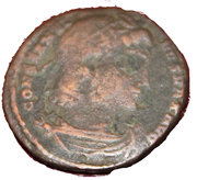 Centenionalis - Constantinus I (GLORIA EXERCITVS; Constantinople mint) – obverse