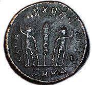 Nummus - Constantinus I (GLORIA EXERCITVS; Cyzicus ) – reverse