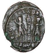 Nummus - Constantius II (GLORIA EXERCITVS; Thessalonica) – reverse