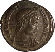 Follis - Constantinus I (one-standard GLORIA EXERCITVS, Nicomedia mint) – obverse