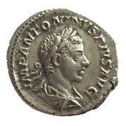 Denarius - Elagabalus (LIBERALITAS AVG) – obverse