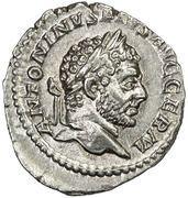 Denarius - Caracalla (P M TR P XVIIII COS IIII P P) – obverse
