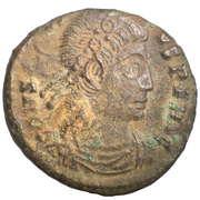 Follis - Constantius II (VICTORIAE DD AVGG Q NN; Siscia) – obverse
