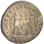 Follis - Constantius II (VICTORIAE DD AVGG Q NN; Siscia) – reverse