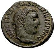Follis - Constantinus I (IOVI CONSERVATORI AVGG; wreath / officina mark / III; Antioch) -  obverse