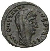 Follis - Constantinus I (DV CONSTANTINVS PT AVGG; Alexandria) -  obverse