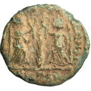 Follis - Constantius II (VICTORIAE DD AVGG Q NN; Thessalonica) – reverse
