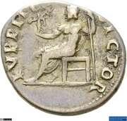 Denarius - Vitellius (IVPPITER VICTOR; Jupiter and Victory) -  obverse