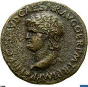 As - Nero (S C; Victory) -  obverse