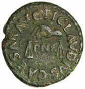 Quadrans - Claudius (PON M TR P IMP COS DES IT) – obverse