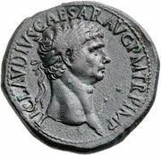 Sestertius - Claudius (SPES AVGVSTA S C; Spes) -  obverse