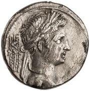 Denarius - Octavian (IMP CAESAR; Victory) -  obverse