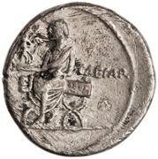 Denarius - Octavian (IMP CAESAR; Victory) -  reverse