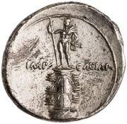Denarius - Octavian (IMP CAESAR; Apollo) -  reverse