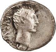 Quinarius - Augustus (Victory) -  obverse