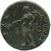 Sestertius - Domitian (PAX AVGVST S C; Pax) -  obverse