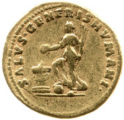 Aureus - Trajan (SALVS GENERIS HVMANI; Salus) -  obverse