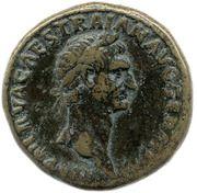 Sestertius - Trajan (TR P COS II P P S C; Pax) -  obverse