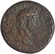 Sestertius - Trajan (TR POT COS II S C; Pax) -  obverse