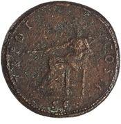 Sestertius - Trajan (TR POT COS II S C; Pax) -  reverse