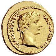 Aureus - Tiberius and Augustus (DIVOS AVGVST DIVI F) -  obverse