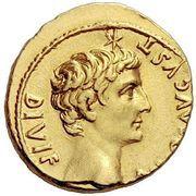 Aureus - Tiberius and Augustus (DIVOS AVGVST DIVI F) -  reverse