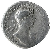 Denarius - Hadrian (P M TR P COS DES II FORT RED; Fortuna) -  obverse