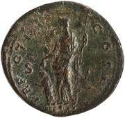 Sestertius - Marcus Aurelius (TR POT III COS II S C; Pietas) -  obverse
