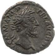 Denarius - Commodus (P M TR P XI IMP VII COS V P P; Felicitas) -  obverse