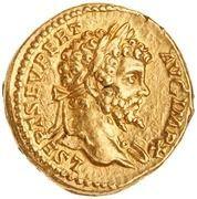 Aureus - Septimius Severus (VICT AVGG COS II P P; Victory) -  obverse