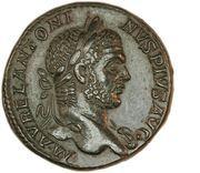 Sestertius - Caracalla (PONTIF TR P XIII COS III S C; Victory) -  obverse