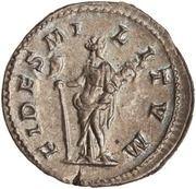 Denarius - Elagabalus (FIDES MILITVM; Fides) -  reverse