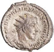 Antoninianus - Hostilian (SECVRITAS AVGG; Securitas) -  obverse