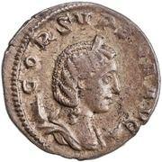 Antoninianus - Cornelia Supera (IVNONI AVG; Juno) -  obverse
