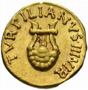 Aureus - Augustus (TVRPILIANVS IIIVIR) -  obverse