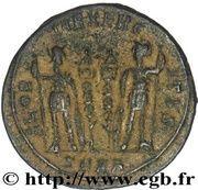 Nummus - Constantinus I (GLORIA EXERCITUS, Nicomedia mint) – reverse