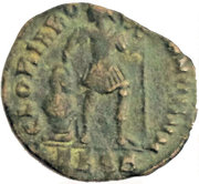 Nummus - Valentinianus I (GLORIA ROMANORVM; Thessalonica mint) -  reverse