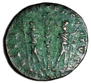 Nummus - Constantius II (GLORIA EXERCITVS; Constantinople mint) – reverse