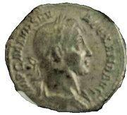 Denarius - Severus Alexander (PM TRP VII COS II PP; Mars) – obverse