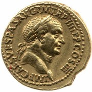 Aureus - Vespasianus (DE IVDAEIS; Lugdunum mint) – obverse