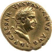 Aureus - Vespasianus (IVDAEA; Spain mint) – obverse