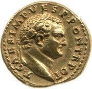 Aureus - Vespasianus (Rome mint) – obverse