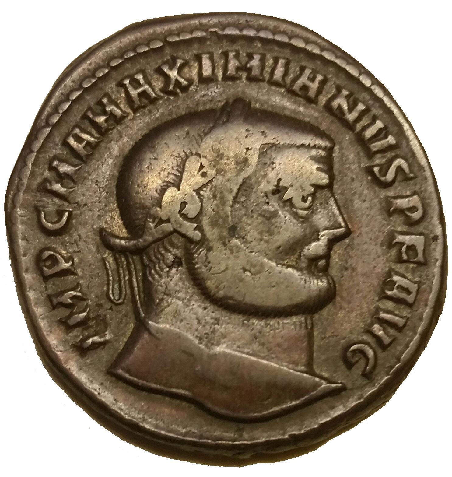 MAXIMIANUS AE large follis. Aquileia mint. Genio Populi Romani
