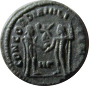 Fraction - Galerius (CONCORDIA MILITVM; Heraclea mint) – reverse