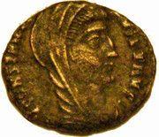 Nummus - Constantinus I (DV CONSTANTINVS PT AVGG; Quadriga; Cyzicus mint) – obverse