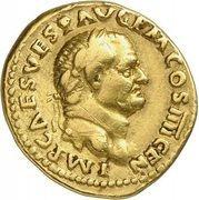 Aureus - Vespasianus (VESTA; Rome) – obverse