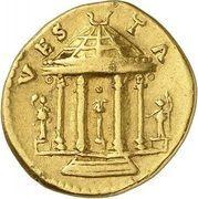 Aureus - Vespasianus (VESTA; Rome) – reverse