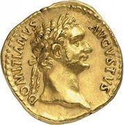 Aureus - Domitianus (GERMANICVS COS XVI; Rome) – obverse