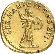 Aureus - Domitianus (GERMANICVS COS XVI; Rome) – reverse